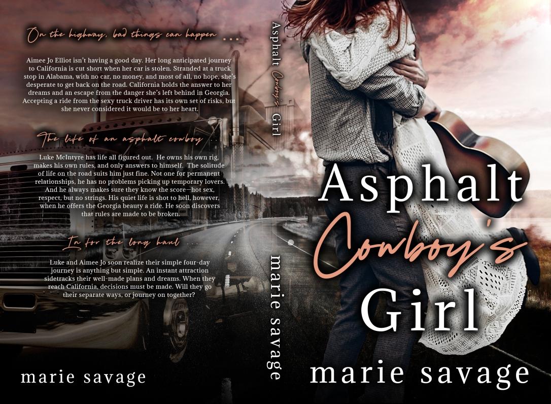 Asphalt Cowboy's Girl Marie Savage 5.5x8.5_BW_300